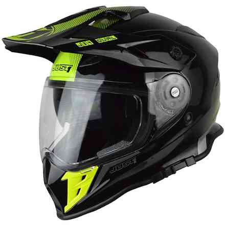 Casco J34 Shape Neon Giallo-Nero Just1