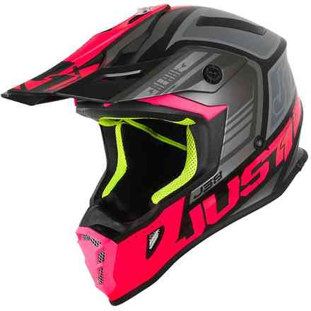 Casco J38 Rosa-Nero Just1