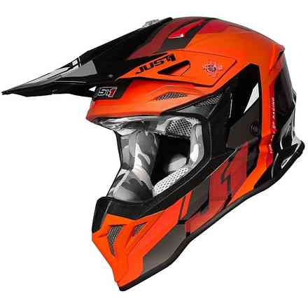 Casco J39 Reactor Arancione fluo-Nero Just1