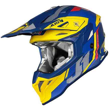 Casco J39 Reactor Giallo Blu Just1