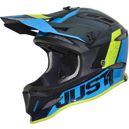 Casco Jdh Assault Blu-Giallo Just1