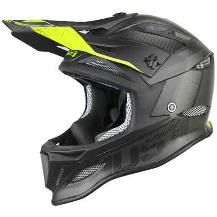 Casco Jdh Assault Nero-Giallo Just1