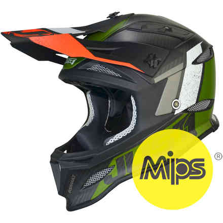 Casco Jdh Assault Nero-Verde + Mips Just1