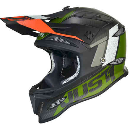 Casco Jdh Assault Nero-Verde Just1
