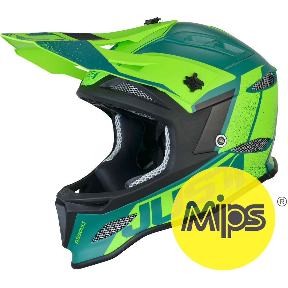 Casco Jdh Assault Verde + Mips Just1