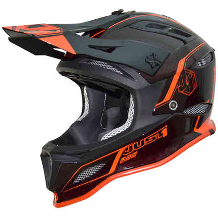 Casco Jdh Elements Nero-Rosso Just1