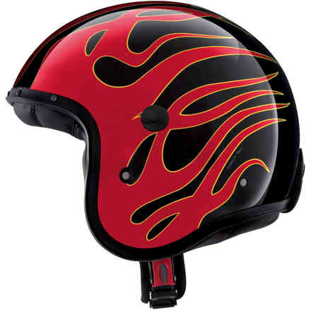 Casco Jet Freeride Flame Caberg