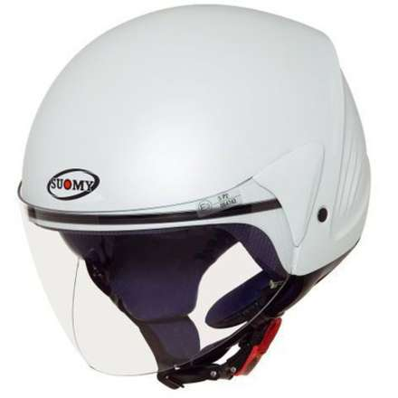 Casco Jet Light Plain White Pearl Soft xs Suomy