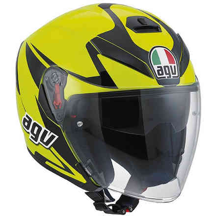 Casco K-5 Jet Multi Threesixty giallo Agv