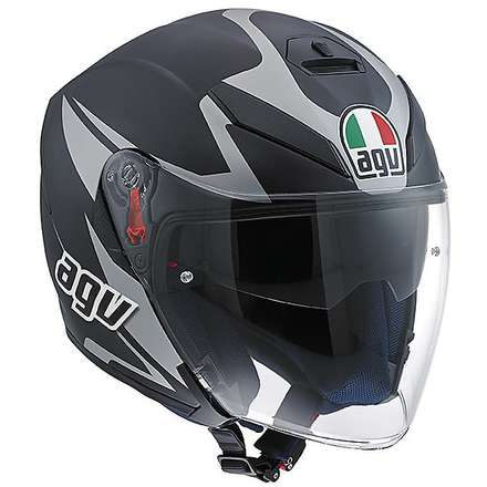 Casco K-5 Jet Multi Threesixty nero Agv