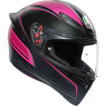 Casco K1 Agv E2205 Multi Warmup Rosa-Nero Agv