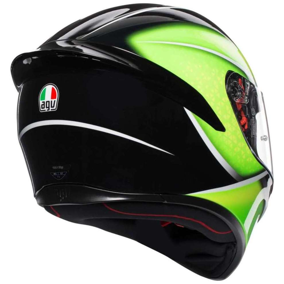 Casco K1 Agv Qualify nero lime Agv