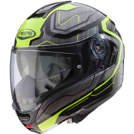 Casco Levante Flow nero antracite giallo fluo Caberg