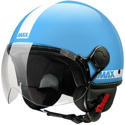 Casco Max Power Turchese lucido-Bianco MAX - Helmets