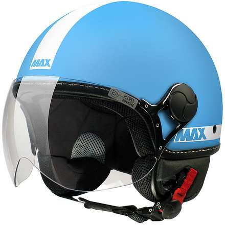 Casco Max Power Turchese opaco-Bianco MAX - Helmets