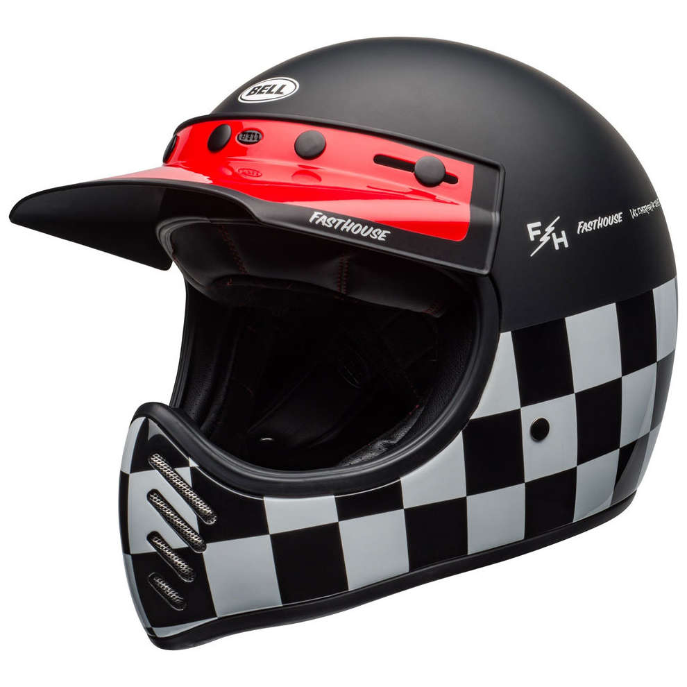 Casco Moto-3 Fasthouse Checkers Helmet  Bell