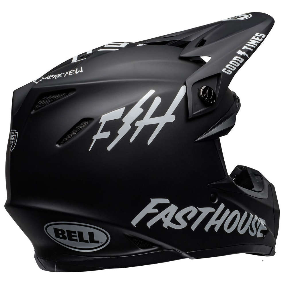 Casco Moto-9 Mips Fasthouse Nero Bianco Bell