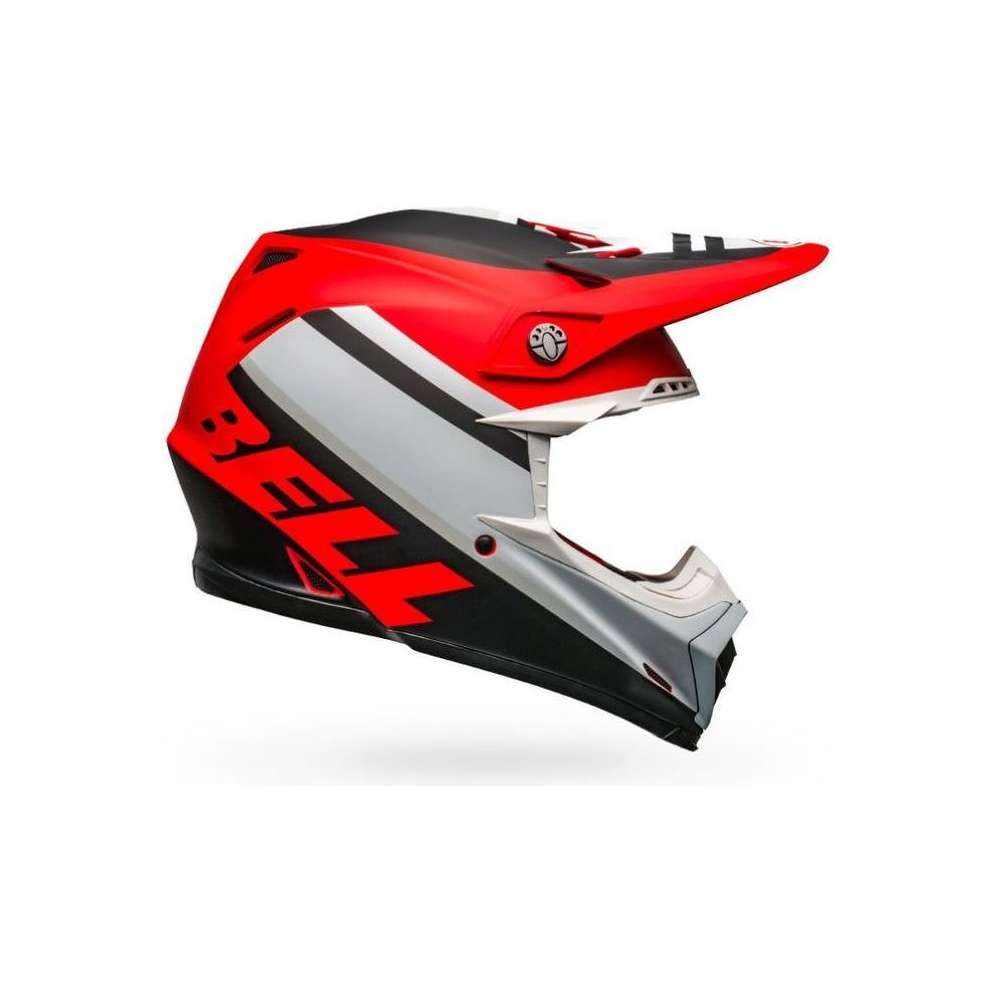 Casco Moto-9 Mips Prophecy bianco opaco rosso nero Bell