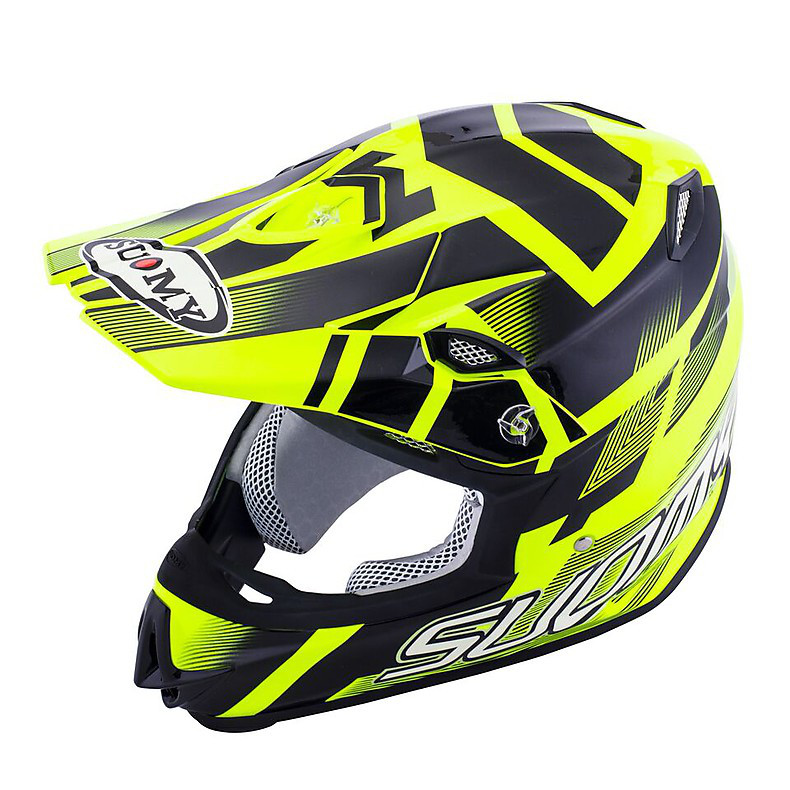 Casco Mr Jump Special giallo fluo-nero Suomy