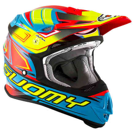 Casco Mr Jump Start blu-fuxia Suomy