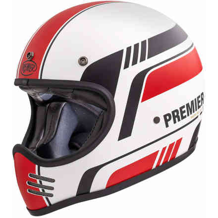 Casco Mx Bl8 Bm White Red Premier