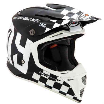 Casco Mx Speed Master Nero/Bianco Suomy