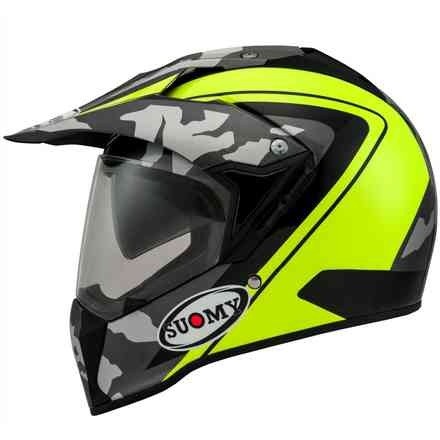 Casco Mx Tourer Desert Giallo Fluo Suomy