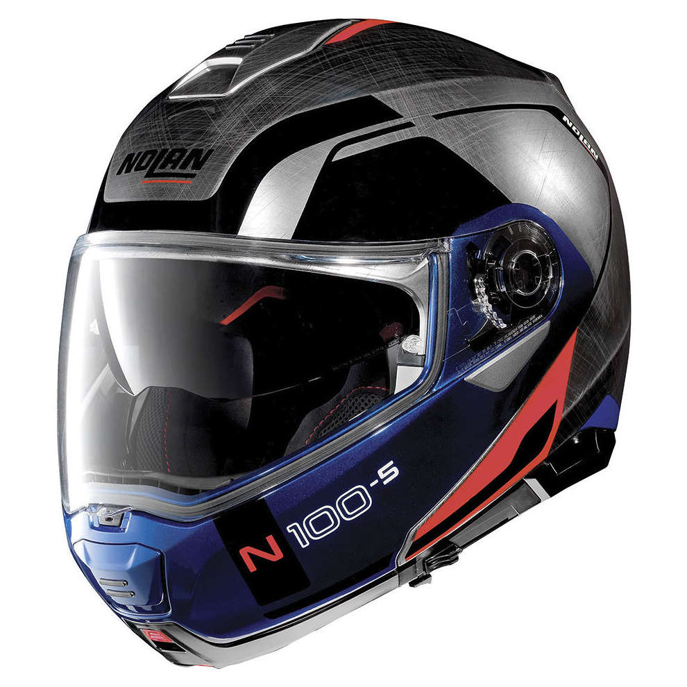 Casco N100-5 Consistency N-Com Scratched Chrome Nolan