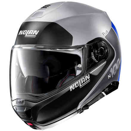 Casco N100-5 Plus Distinctive Flat Argento Nolan