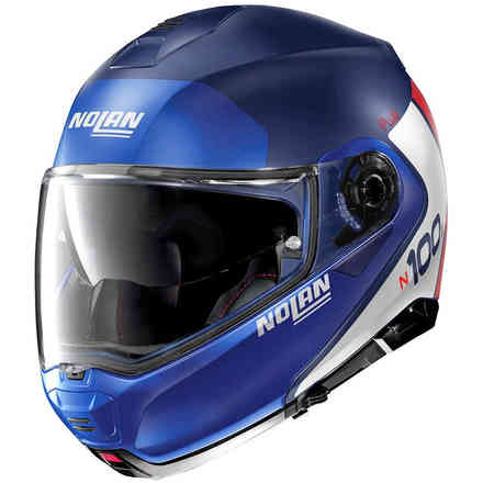 Casco N100-5 Plus Distinctive Flat Imperator Blu Nolan