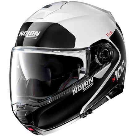 Casco N100-5 Plus Distinctive Metal Bianco Nolan