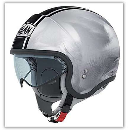 Casco  N21 Caribe Scratched Chrome Nolan