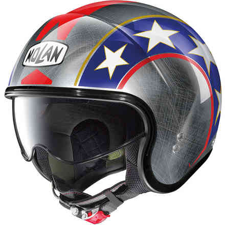 Casco N21 Old Glory Scratched Chrome Grigio Nolan