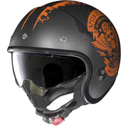 Casco N21 Speed Junkies Scratched arancio Nolan