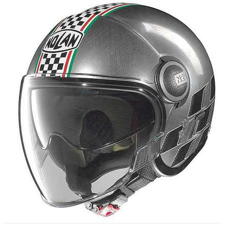 Casco N21 Visor Asso scratched chrome Nolan