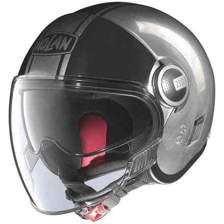 Casco N21 Visor Duetto Scratched chrome Nolan