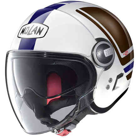 Casco N21 Visor Flybridge blu marrone bianco Nolan