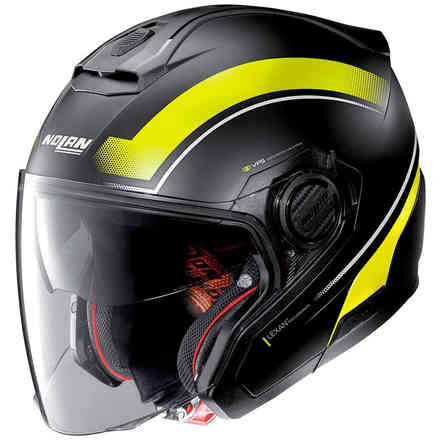 Casco N40-5 Resolute N-Com giallo nero opaco Nolan