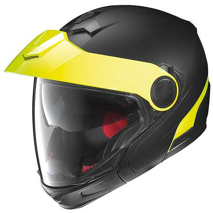 Casco  N40 Full Duetto Plus nero opaco-giallo Nolan