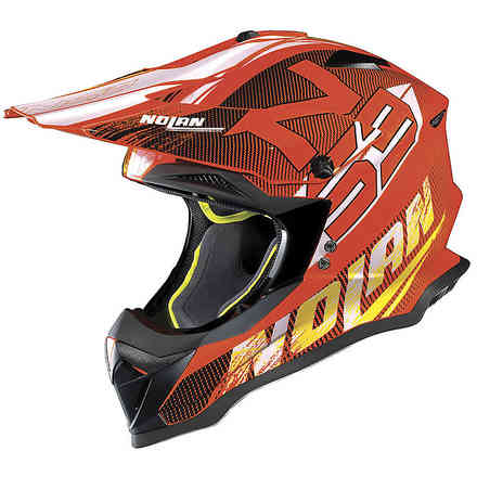 Casco N53 Whoop Arancione Led Nolan