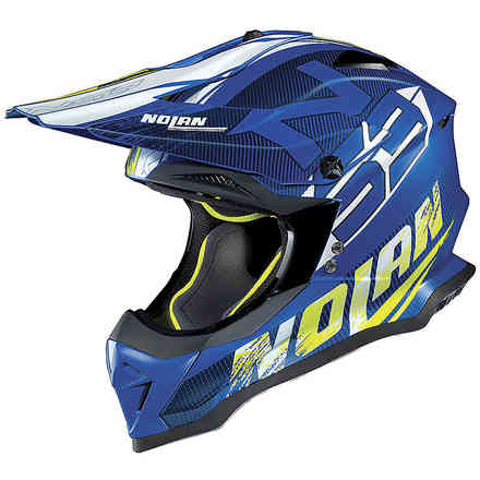 Casco N53 Whoop Denim Blu opaco Nolan