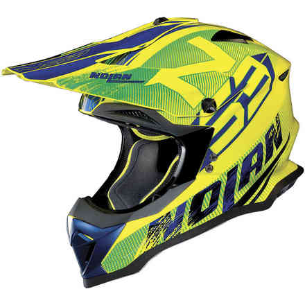 Casco N53 Whoop Giallo Led  Nolan