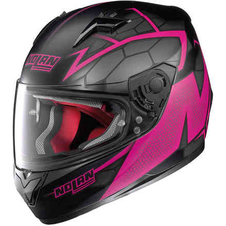 Casco N64 Hexagon fucsia Nolan
