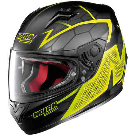 Casco N64 Hexagon giallo Nolan