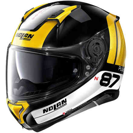 Casco N87 Plus Distinctive N-Com oro nero lucido Nolan