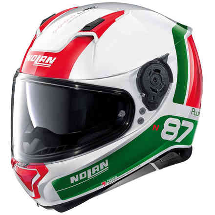 Casco N87 Plus Distinctive N-Com tricolore Nolan