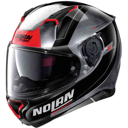 Casco N87 Skilled N-Com Scratched Chrome Grigio Nolan