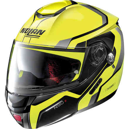 Casco N90-2 Meridianus N-Com giallo led nero Nolan