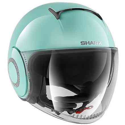 Casco Nano Crystal Blank Acqua marina Shark