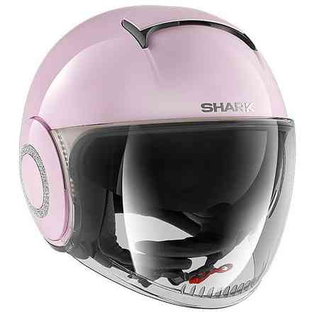 Casco Nano Crystal Blank Rosa Shark